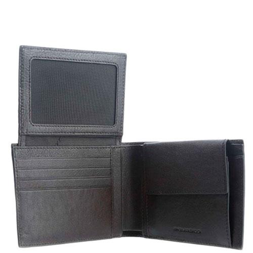 Портмоне Piquadro Bk Square с RFID защитой коричневого цвета, фото