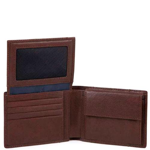 Коричневое портмоне Piquadro Brief с RFID защитой , фото