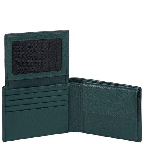 Портмоне Piquadro Modus зеленого цвета, фото