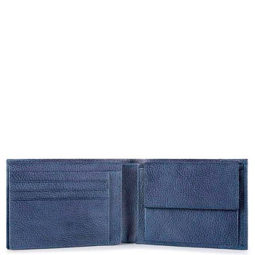 Мужское портмоне Piquadro Pulse синего цвета, фото