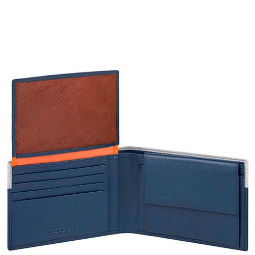 Портмоне Piquadro Urban с RFID защитой в синем цвете, фото