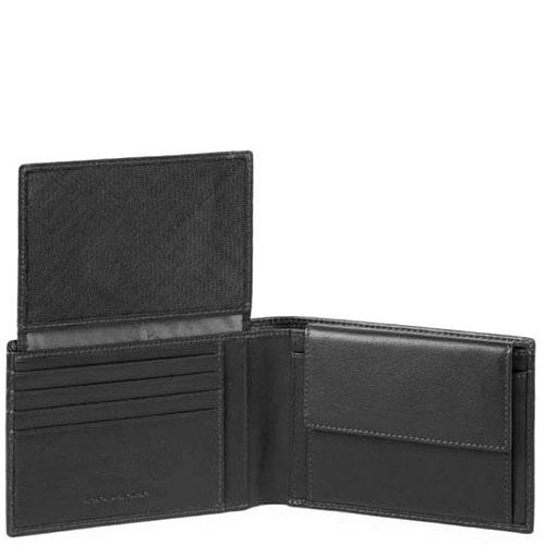Мужское портмоне Piquadro Urban с RFID защитой черного цвета , фото