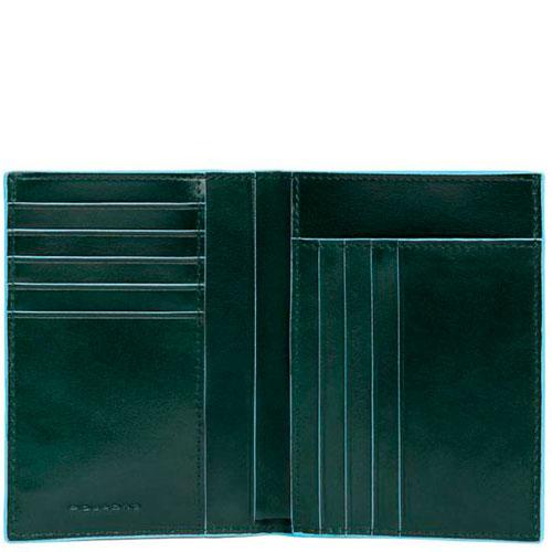 Портмоне Piquadro Bl Square зеленого цвета, фото