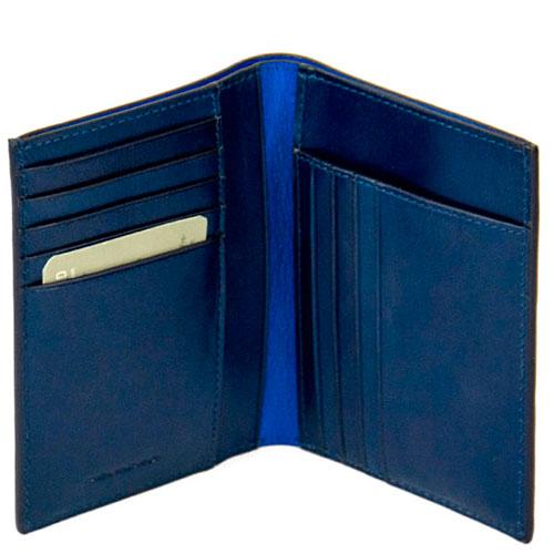 Мужское портмоне Piquadro Bold синего цвета, фото