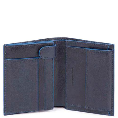 Мужское портмоне Piquadro B2S синего цвета, фото