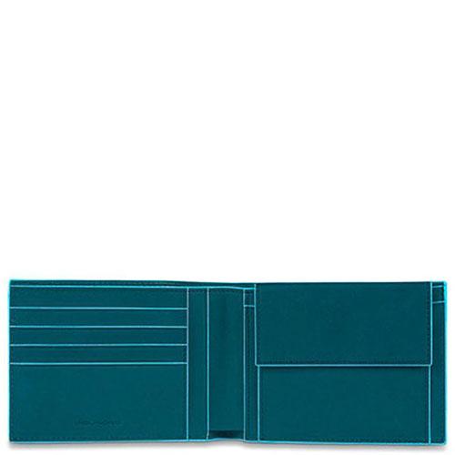 Портмоне Piquadro Bl Square с отделением для монет синего цвета, фото
