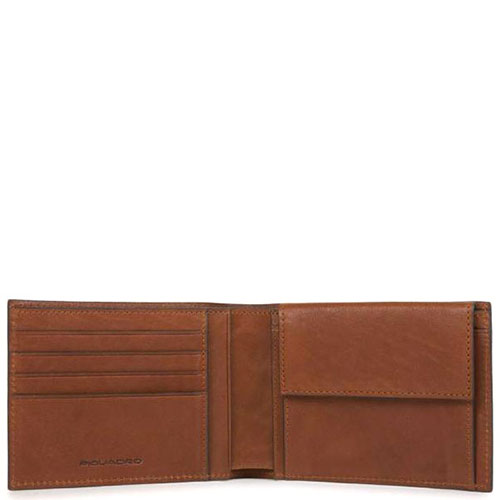 Портмоне Piquadro Bk Square коричневого цвета с отделением, фото
