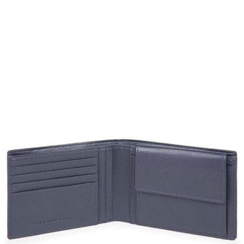 Мужской портмоне Piquadro Pulse с отделением для монет , фото