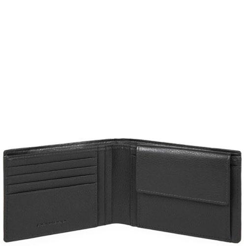 Портмоне Piquadro Pulse с отделением для монет черного цвета, фото