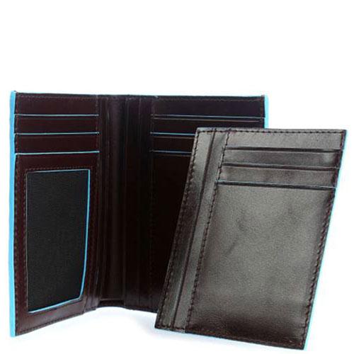 Портмоне Piquadro Bl Square с отделением для 9 кредитных карт в коричневом цвете, фото
