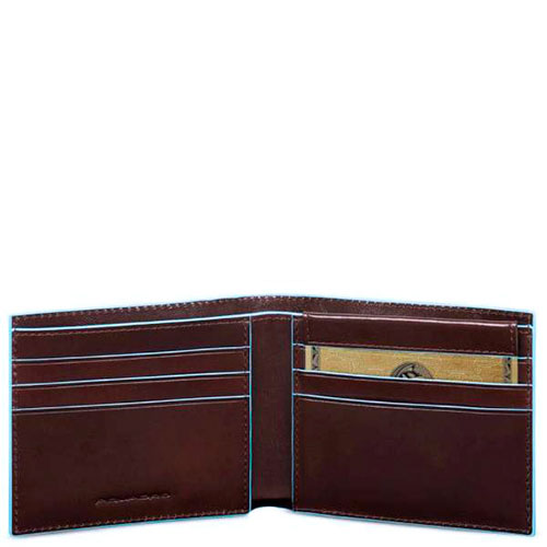 Мужской портмоне Piquadro Bl Square с RFID защитой в коричневом цвете, фото