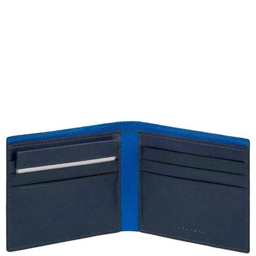Портмоне Piquadro Bold в синем цвете , фото