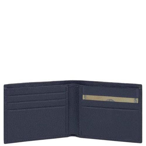 Синий портмоне Piquadro Modus с отделением для документов, фото