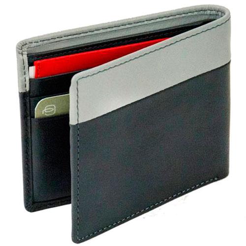 Мужское портмоне Piquadro Urban с RFID защитой серого цвета, фото