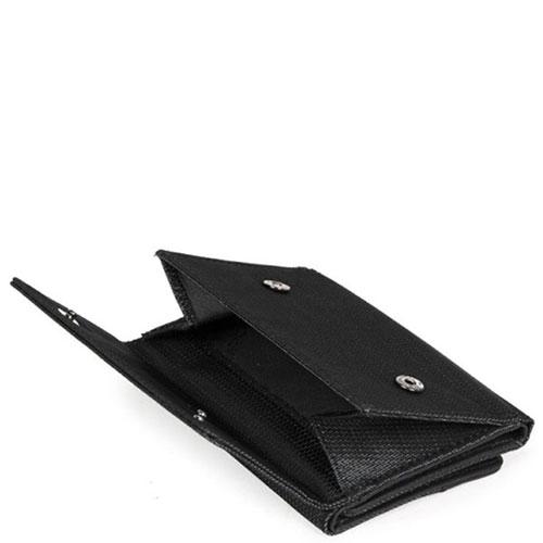 Черный портмоне Piquadro Pulse с отделением для монет , фото