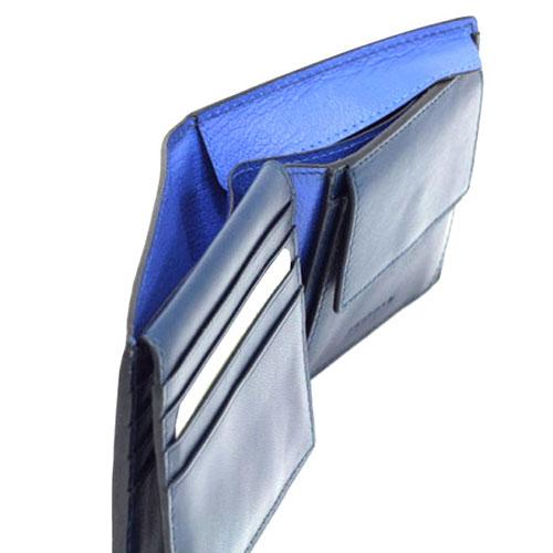 Портмоне Piquadro Bold с RFID защитой в синем цвете, фото