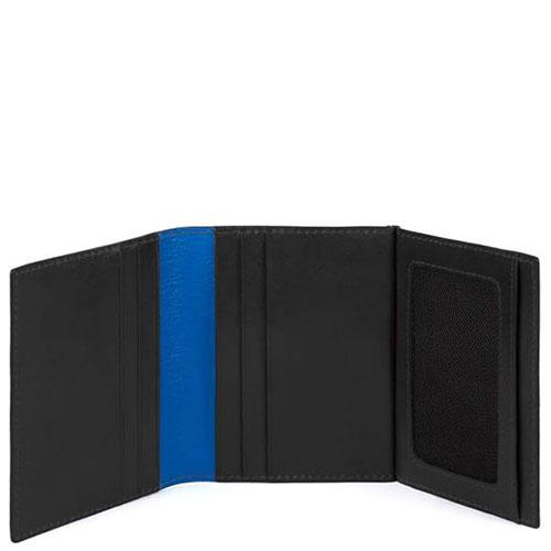 Портмоне Piquadro Bold с RFID защитой черного цвета, фото