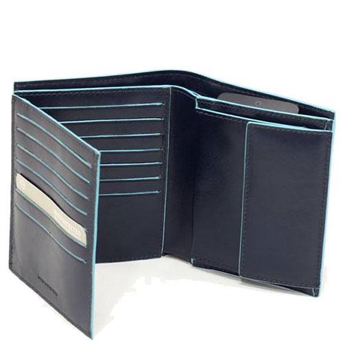 Мужской портмоне Piquadro Bl Square в синем цвете, фото
