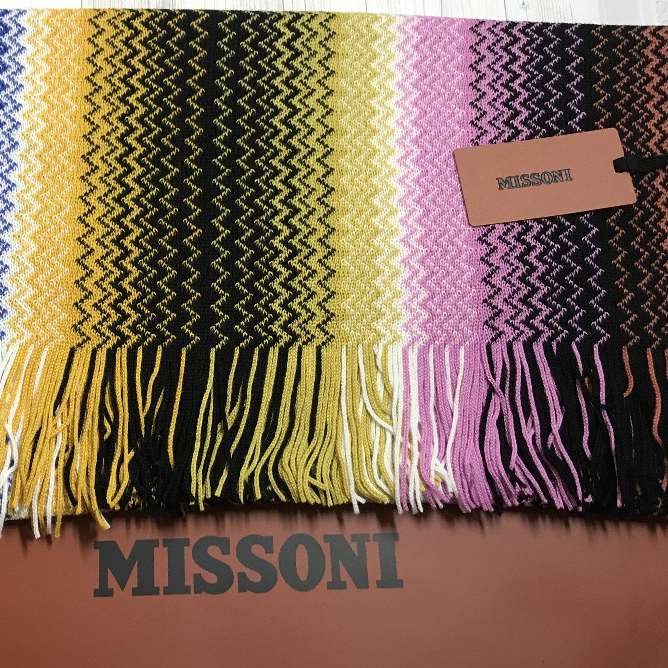 Разноцветный шарф Missoni с узором-зигзаг