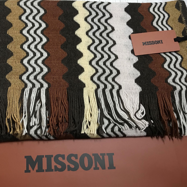 Женский шарф Missoni с волнистым узором