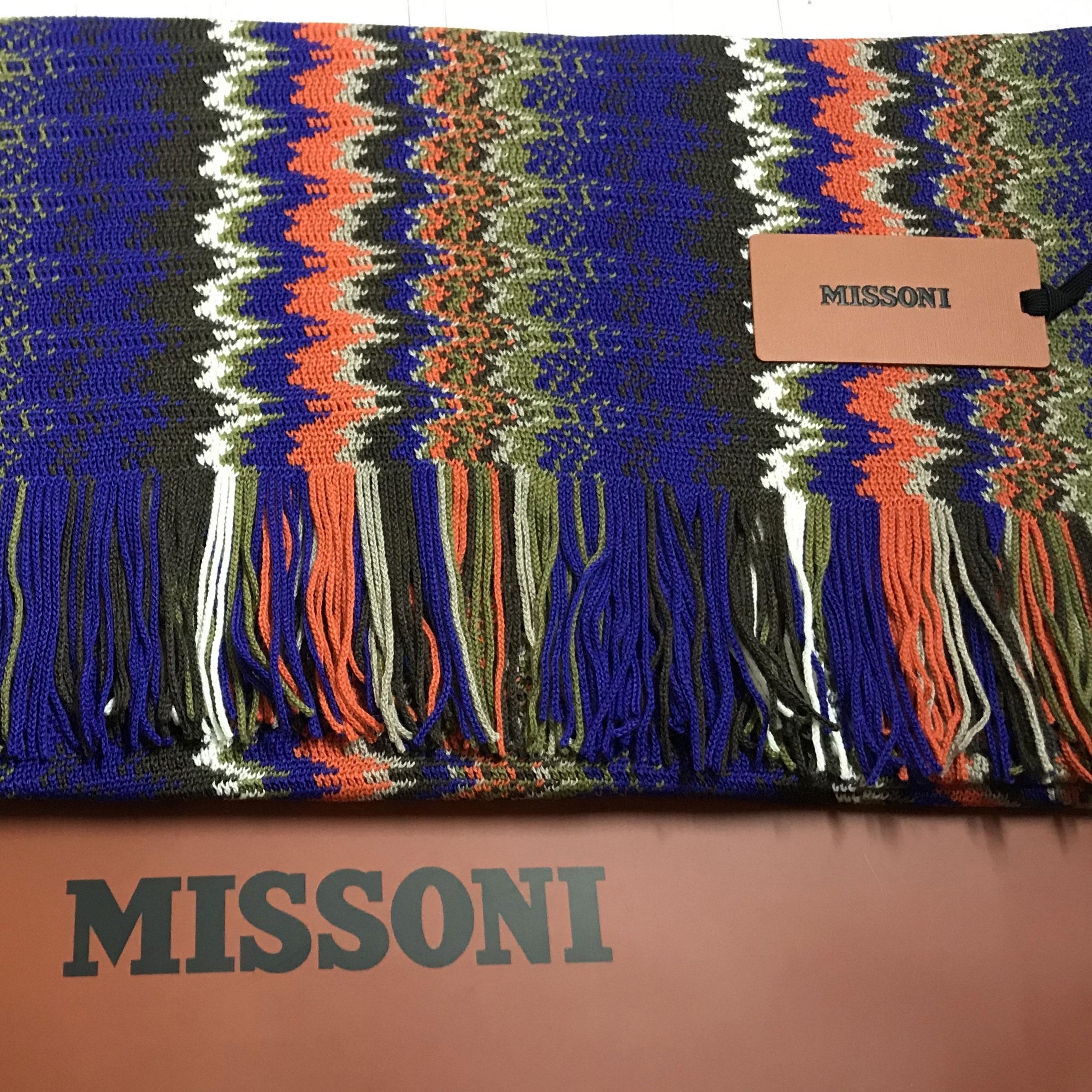 Цветной шарф Missoni с узором