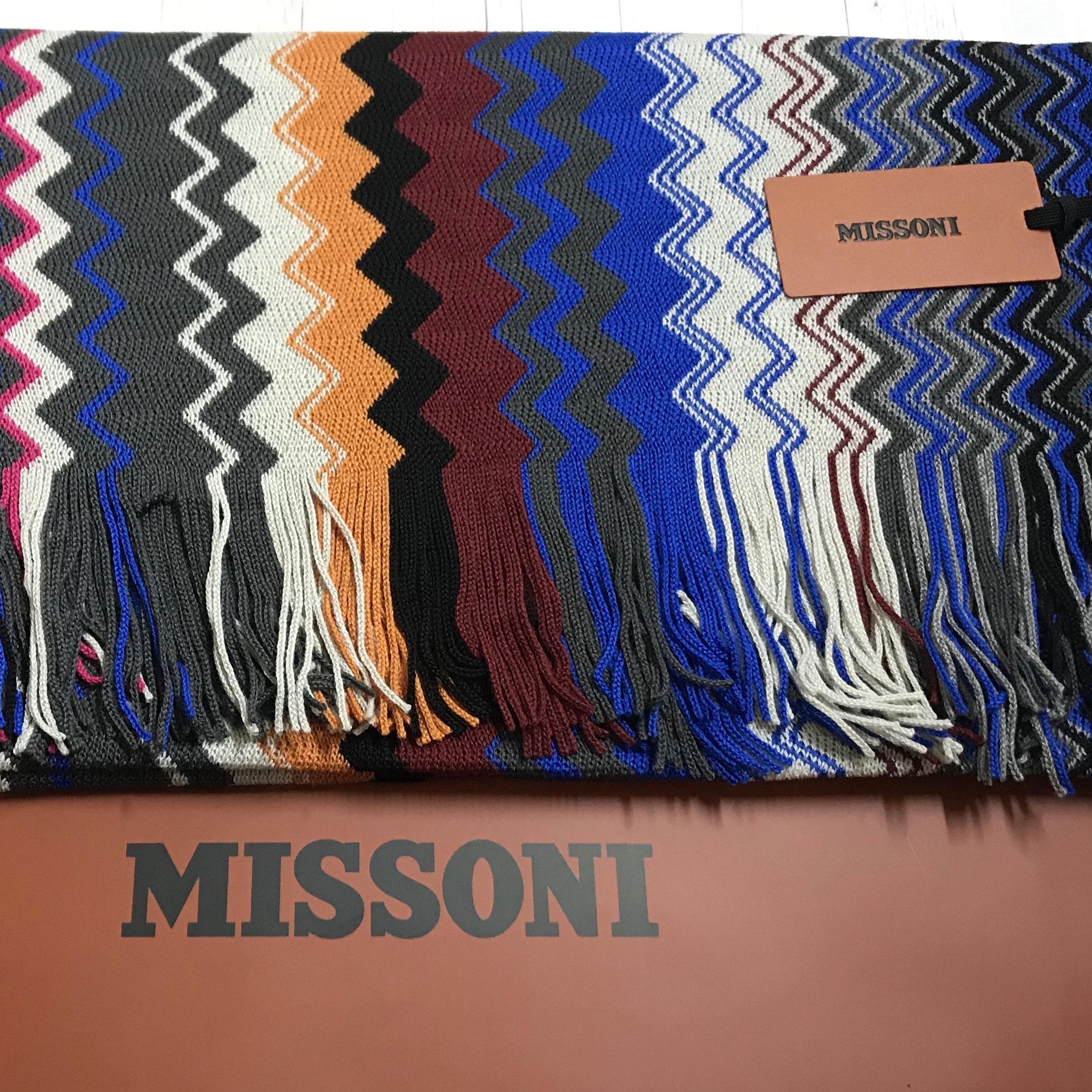 Шарф разноцветный Missoni с узором