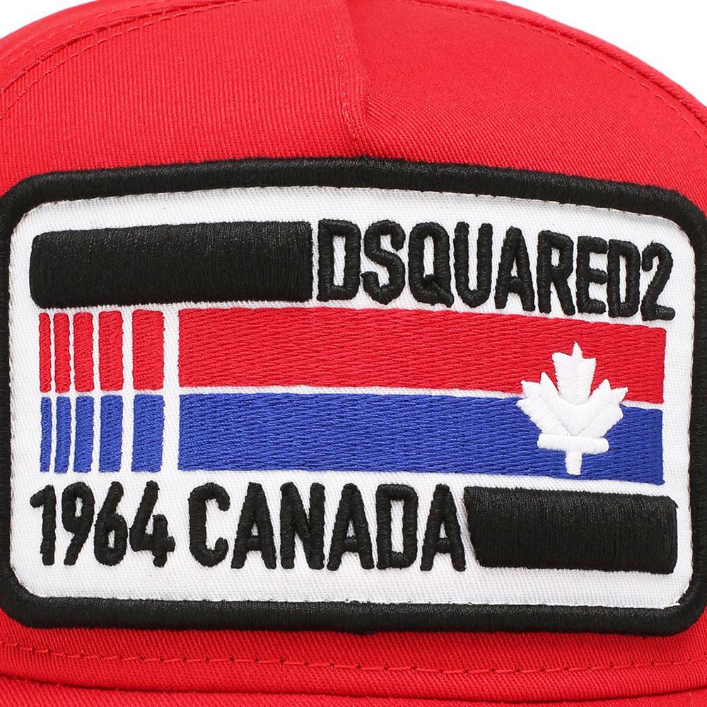 Красная бейсболка Dsquared2 с рельефным логотипом