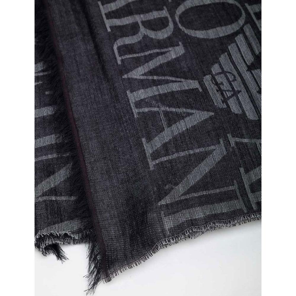 Шарф из шерсти Emporio Armani с логотипом