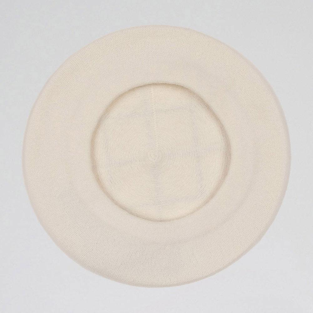 Женский шерстяной берет Emporio Armani в белом цвете