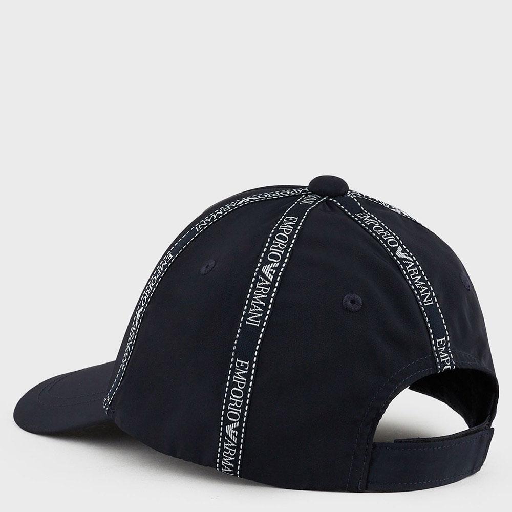 Бейсболка Emporio Armani с логотипированной лентой
