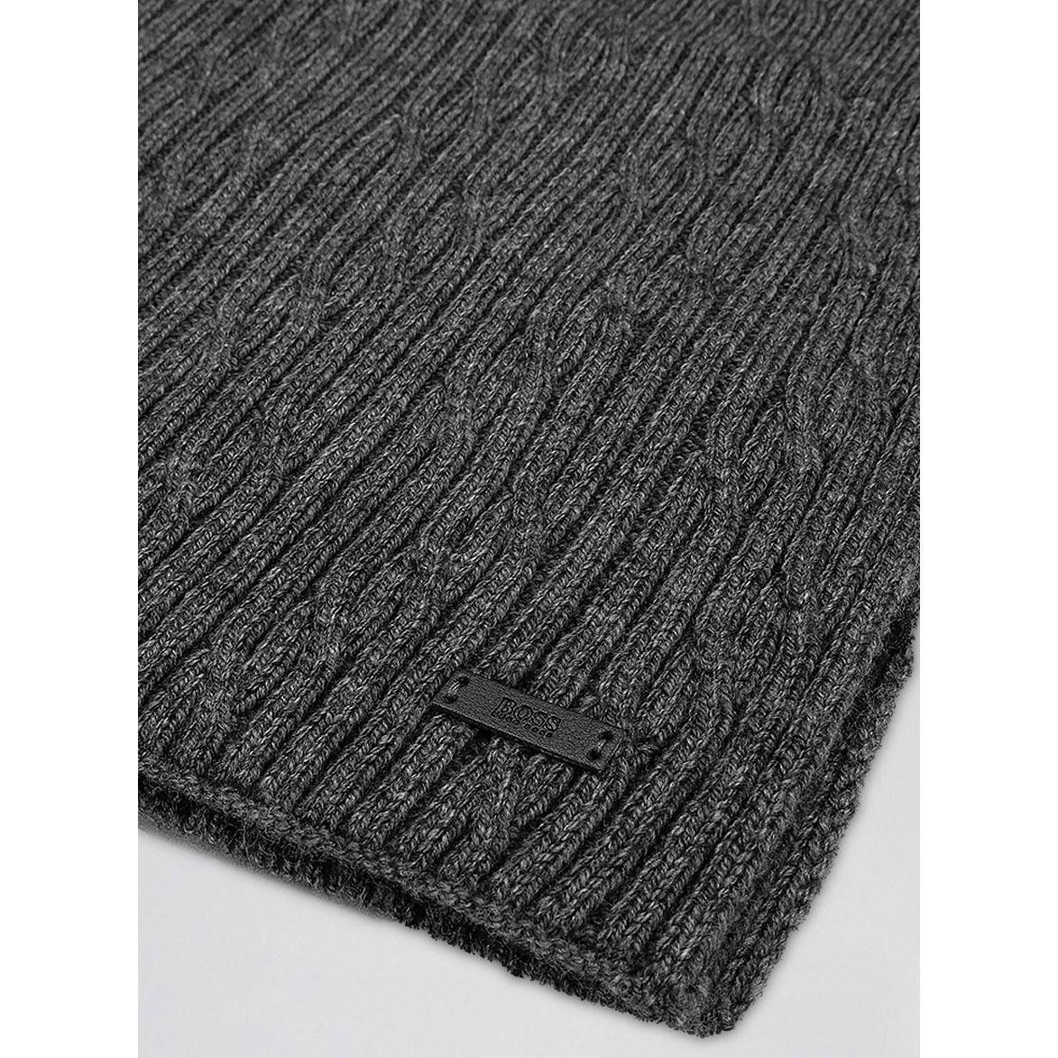 Мужской шарф Hugo Boss серого цвета