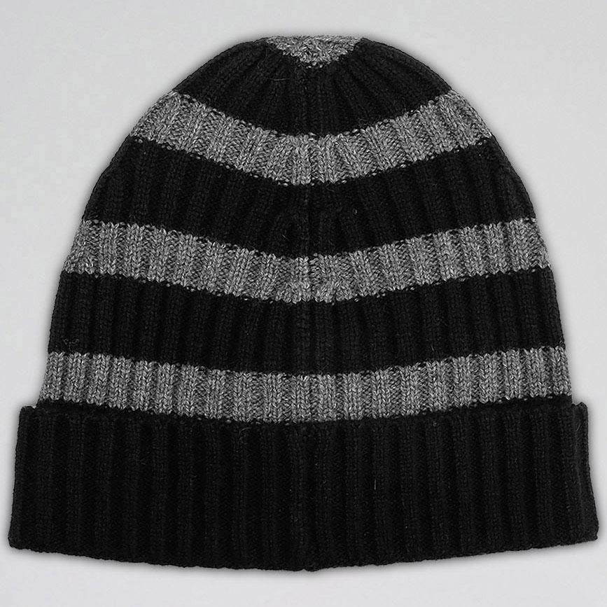 Мужская полосатая шапка Hugo Boss из шерсти