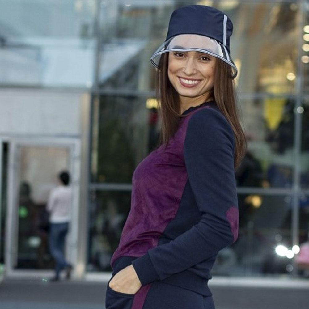 Спортивная шляпа Shapelie синяя с прозрачной тульей