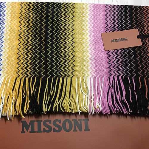 Разноцветный шарф Missoni с узором-зигзаг, фото
