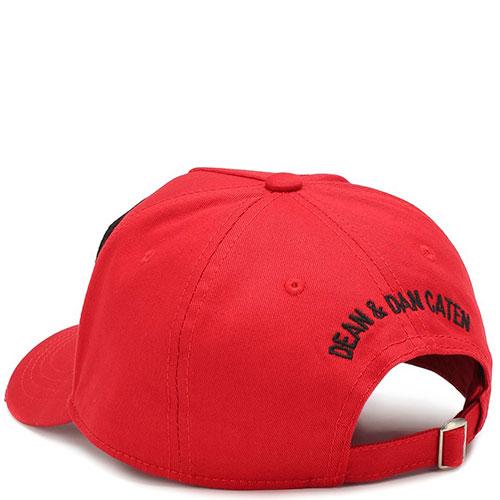 Красная бейсболка Dsquared2 с рельефным логотипом, фото