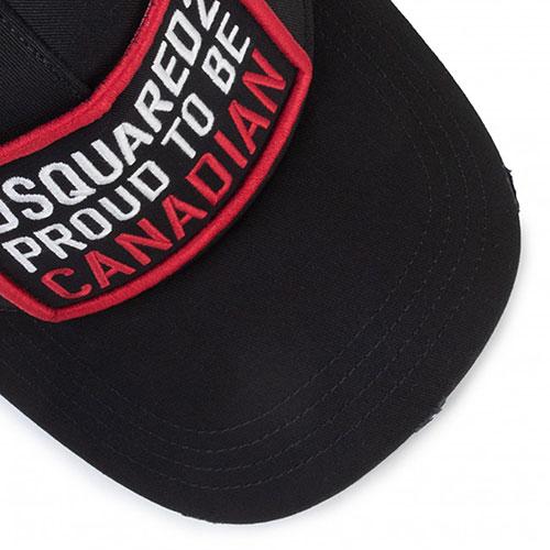 Черная кепка Dsquared2 с регулируемым ремешком, фото
