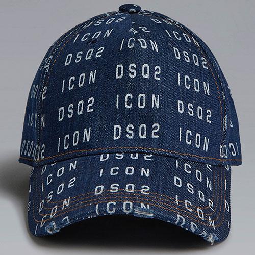 Джинсовая кепка Dsquared2 Icon синего цвета, фото