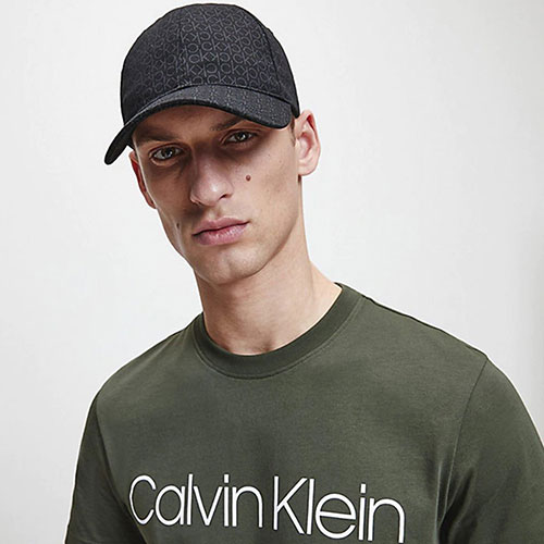 Хлопковая кепка Calvin Klein с монограммой бренда, фото