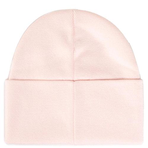 Розовая шапка Calvin Klein с брендовой вышивкой, фото