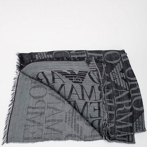 Шарф из шерсти Emporio Armani с логотипом, фото
