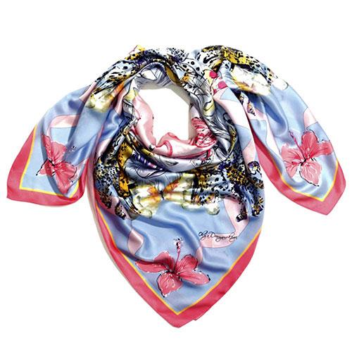 Голубой платок D.OLYA by Olga Dvoryanskaya из итальянского шелка, фото