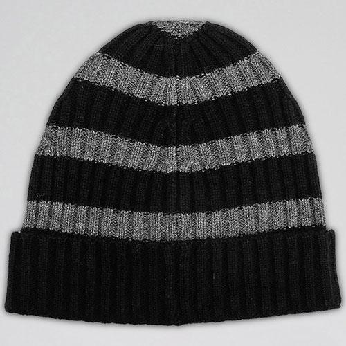 Мужская полосатая шапка Hugo Boss из шерсти, фото