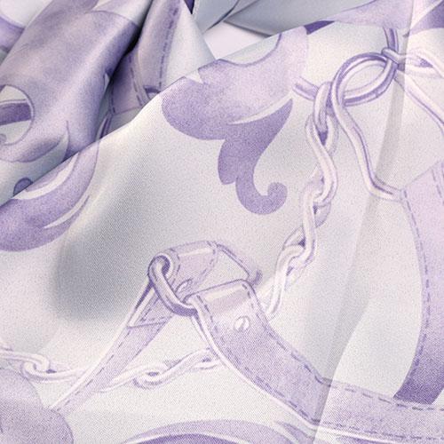 Платок Fattorseta с узором лавандового цвета, фото