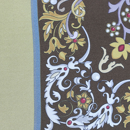 Платок Fattorseta из шелка с цветочным узором, фото