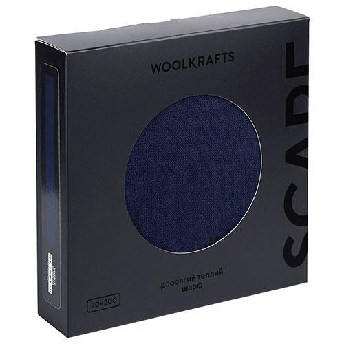 Шарф Woolkrafts Navy Blue темно-синий, фото