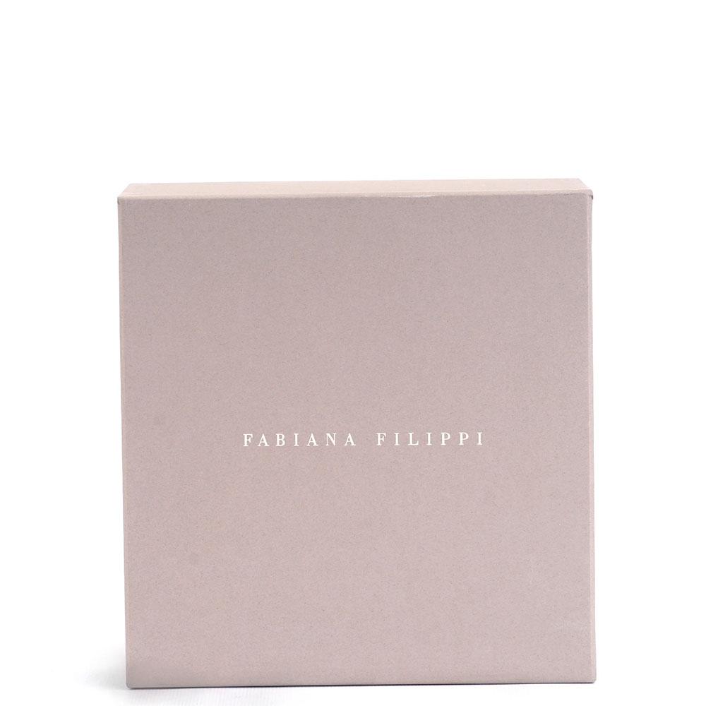 Круглая косметичка Fabiana Filippi черного цвета