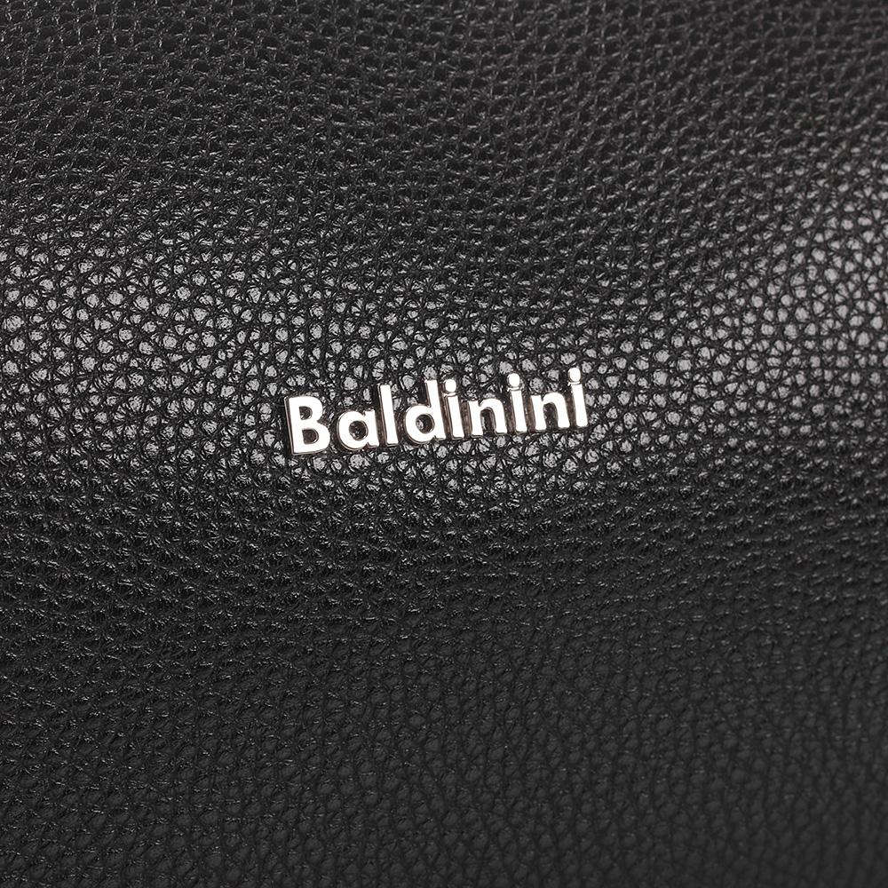 Косметичка Baldinini Brian из зернистой кожи черного цвета
