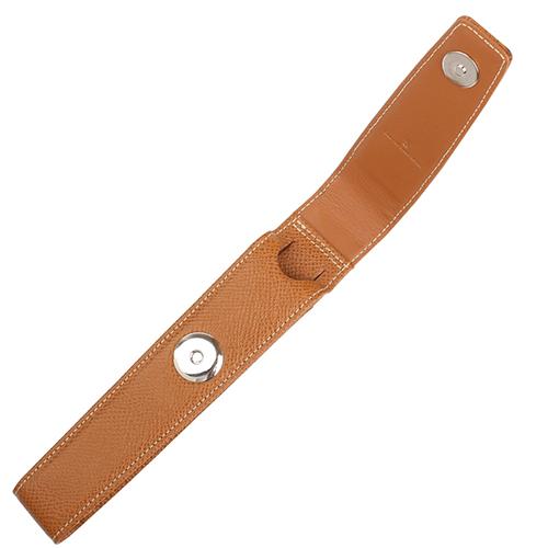 Коричневый кожаный футляр Graf von Faber-Castell для ручки на кнопке, фото