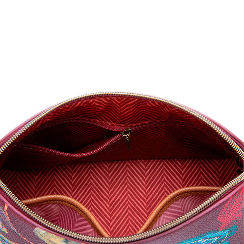 Дорожная косметичка Pip Studio Triangle Large Poppy Stitch Burgundy, фото