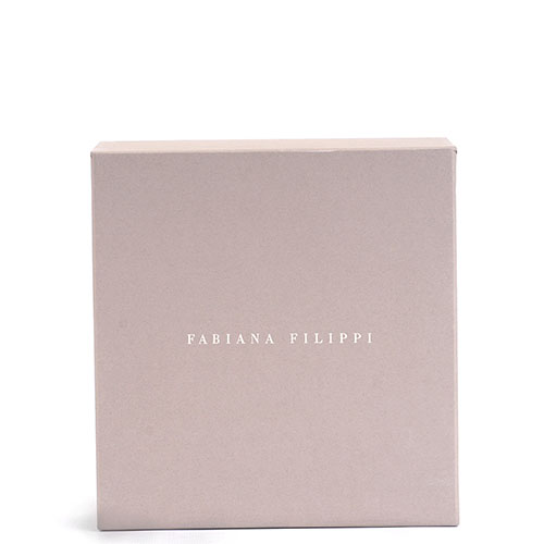 Круглая косметичка Fabiana Filippi черного цвета, фото